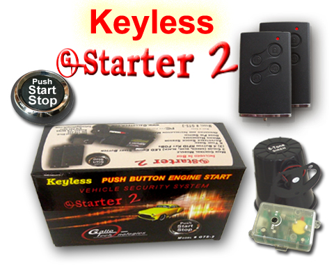 GTStarter 2 Keyless Push Button Start Security System w/ Passive RFID Technology
