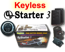 GTStarter 3 Keyless Ignition Push Button Start Security System w/ Passive RFID Technology