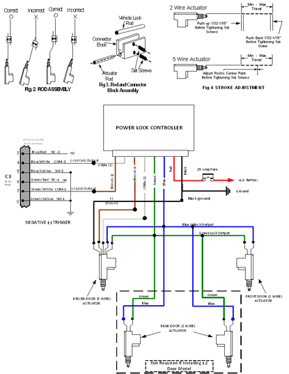 power door lock actuator drawing